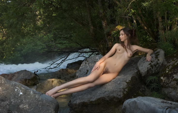 Hot nipples on the nature - Other Babes